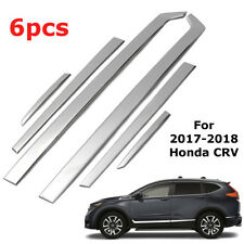For Honda CRV 2017-18 Chrome Stainless Steel Door Side Body Mouldings Cover Trim