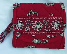 VERA BRADLEY POCKET WALLET  RED BANDANA RARE RETIRED EXCELLENT CONDITION