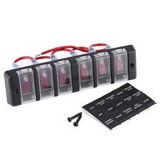 6Gang Schaltpanel Wippschalter Schalttafel Schalter Panel für Auto Marin Boot RV