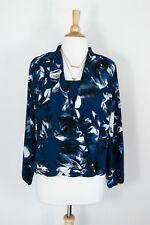 ALFANI // Size US 16 AU 18/20 // NWT Teal Blue Floral Twist Front Blouse