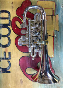 Hoch G Trompete High G-Trumpet Piccolo Trumpet G. Rauscher