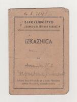 WW2 NDH National Defense ID CARD DOCUMENT RARE 1943 WWII Croatia Pavelic Ustasha