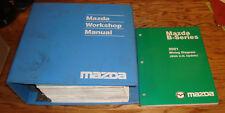 Original 2001 Mazda B-Series Truck Shop Service Manual + Wiring Diagram Set 01