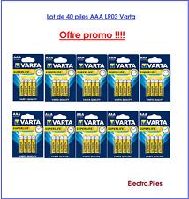 Set de 40 Pilas Varta zinc carbono Superlife AAA LR03 precio tirado