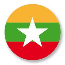 Magnet Aimant Frigo Ø38mm Drapeau Flag Maillot Echarpe Birmanie Burma mm
