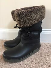 RARE LL Bean Wicked Good Shearling Insulated Snow Sz 8 Women's Boots Canada Made