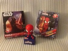 Talking Spiderman/100 Piece Star Wars & 48 Piece Spiderman Puzzles