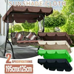 Swing Top Seat Cover Canopy Replacement Porch Patio Outdoor 2-3 Perso USA