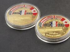 2 D Day 6th June 1944 Commemorative Coins Omaha Sword Utah Juno Gold Arromanches