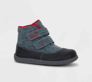 New See Kai Run Basics Ashton Sneakers Black Toddler Boys Sizes 4, 6, 8, 9, 10