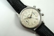 WITTNAUER 3256 CHRONOGRAPH ORIGINAL 3-COLOR DIAL STIANLESS STEEL DATES 1960'S