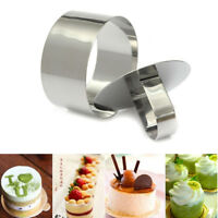 DIY Stainless Steel Mousse Cake Ring Mold Layer Slicer Cook Cutter Bake Mould