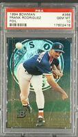 1994 Bowman Foil #368 Frank Rodriguez RC Rookie Red Sox PSA 10 Gem Mint POP 2
