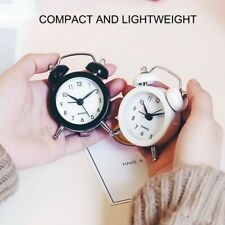 50mm Mini Portable Alarm Clock Analog Desk Bell Travel Camping Pocket Outdoor