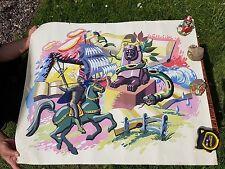 Montage de personnages de populaire livres sans cadre peinture signé cinic (19) 70
