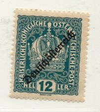 Austria 1918-19 Early Issue Fine Mint Hinged 12h. Optd 220889