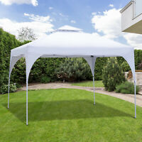 Outsunny 10'x10' Outdoor Instant Gazebo Pop-Up Canopy Tent Vented Roof White