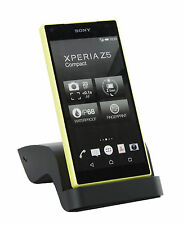 Sleek Curved Premium Docking Station Charger Sony Xperia Z5 Compact - Black