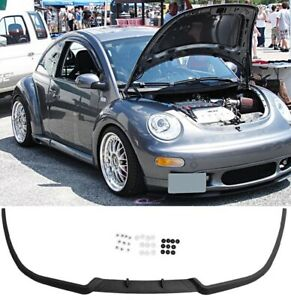 For VW New Beetle  Front Bumper Cup Chin Spoiler Lip Splitter Valance + Screws