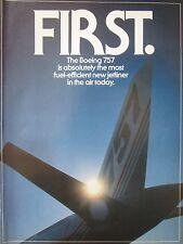 5/1982 PUB 3 PAGES BOEING 757 AIRLINER AIRLINES PASSENGER COCKPIT ORIGINAL AD