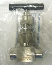 """SWAGELOK SS-6NBSW8T-G 1/2"""" NEEDLE VALVE TSW CONNECTION 6000 PSI 316SS  <448NW"""