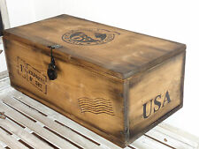 Holzkiste Truhe ~USA air mail Kiste ~ Frachtkiste Retro  Shabby Vintage