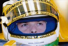 Giancarlo Fisichella Hand Signed B&H Jordan Ford Helmet Photo 12x8.