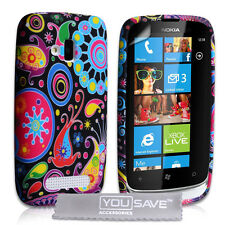 ACCESSORI per il Nokia Lumia 610 JELLYFISH in Silicone Gel Custodia Cover UK & Pellicola