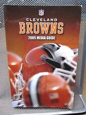 CLEVELAND BROWNS media guide 2005 training camp football Trent Dilfer