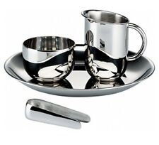 Alessi/Bauhaus Archiv/Sugar and Creamer Set - Stainless Steel and brand new