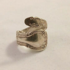 ALVIN STERLING SILVER ''FRENCH SCROLL'' BLACK HILLS FINGER RING. SIZE 6