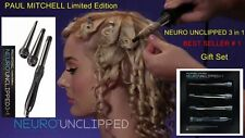 Paul Mitchell Neuro Unclipped Titanium Curling Iron 3 in 1, 1In/1-1/4In & 3/4in