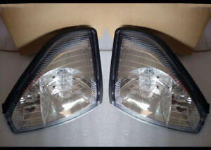 2* Front Corner Lamp Crystal Face For Toyota Prado Lc90 2700 3400 LC95 1997-2002