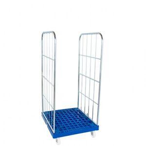 Gittercontainer Gitterrolli 2 Seitig Kunststoffboden Traglast 500 KG