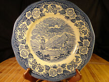 "LOCHS OF SCOTLAND Loch Dich ROYAL WARWICK Dinner Plates, 10"" Minor Imperfections"