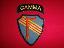 Set Of 2 US 5th Special Forces Group SFOD B-57 Project GAMMA Vietnam War Patches