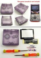 Transparent Clear Purple Shell Housing Case For Game Boy Advance SP GBA SP