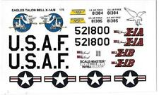 Loose, Box Stock EAGLES TALON, BELL X-1A / B  Decals 1/72  NO INSTRUCTIONS