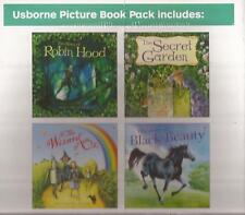USBORNE PICTURE 4 x BOOK PACK The Story of Robin Hood Wizard of Oz Secret Garden