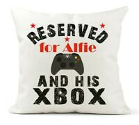 Personalised Cushion. Boys Reserved for, Xbox/Xbox One Bedroom/Son/Dad/Brother