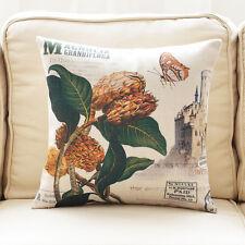 """Cotton Linen Pillow Case Cushion Cover Magnolia Plant Sofa Throw Home Decor 18"""""""