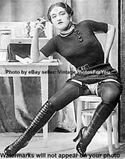 Vintage/Old 1920s Sexy Girl/Woman Knee High Tall/Lace Up Boots Garter Belt Photo