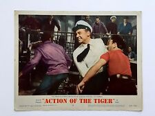ACTION OF TIGER (VG+) Orig Lobby Card LC 1957 Movie Poster Van Johnson 8083