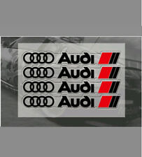 4PCS For AUDI SPORT STICKERS, GRAPHICS,WING,CUSTOM,S LINE, A3, S3, Q7, Q5, SQ7
