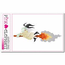 ADESIVO - Hexe 10 - 13 x 5 cm - Witch Halloween SPAVENTOSO Süßes O Saures MAGIE