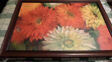 """24"""" x 36 """" Inch Gerberas  Wall Art by Carol Rowan Canvas Art Framed In Walnut"""