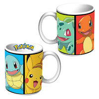 POKEMON GO KANTO Pikachu Squirtle Charmander & Bulbasaur design Coffee Mug Cup
