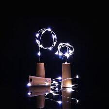 White Cork Shaped 20LED Starry Lights Wine Bottle Lamp For Wedding Party Decor