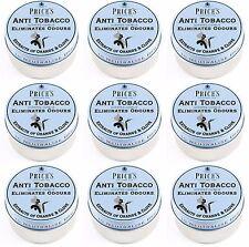 9 x Price's Scented Candle Tin Anti-Tobacco Eliminates Odours Orange Clove