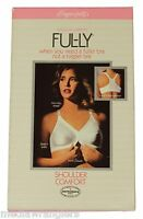 NEW VTG 80s Exquisite Form FUL-LY BRA Shoulder Comfort Front Closure 40C White